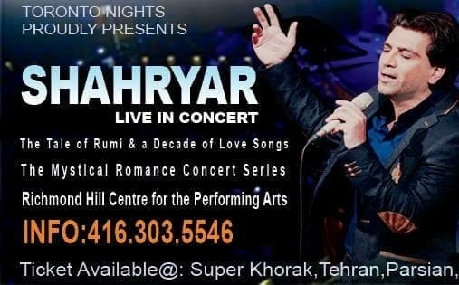 Shahryar Live In Toronto: The Tale of Rumi, and A Decade of love Dance