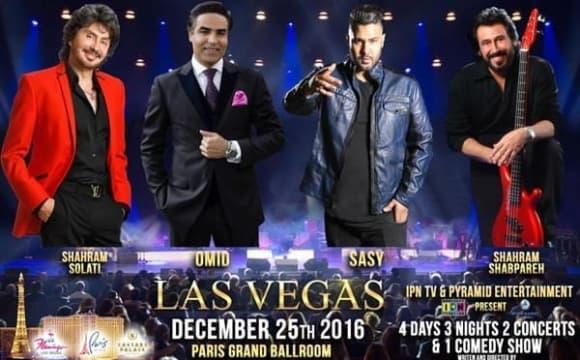کریسمس با ایرانیان در لاس وگاس: کنسرت شهرام شب پره، امید، ساسی مانکن و شهرام صولتی