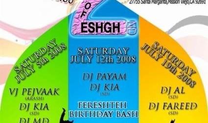 Summer of Eshgh Parties at Club Vanak