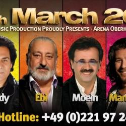 کنسرت و جشن نوروزی با ابی، معین، اندی، منصور، سپیده و حسین تهی