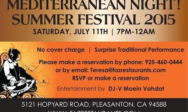 Mediterranean Night! Summer Festival 2015
