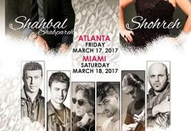 کنسرت با شکوه نوروزی در آتلانتا با شهره، شهبال شب پره و بلک کتز