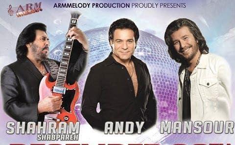 Shahram Shabpareh, Andy, Mansour: Christmas Iranian Concerts