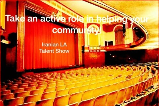 Iranian LA Talent Fundraising Show