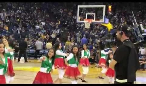 Iranian dance at NBA in Golden State Game