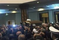 پیكر آیت الله هاشمی به حرم مطهر امام منتقل شد
