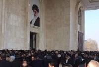 حضور سید حسن خمینی در مراسم تدفین پیکر آیت الله رفنسجانی