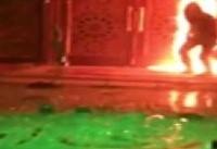 رئیس پلیس تهران از دستگیری عوامل آتش زدن در ورودی یک مسجد در تهران خبر داد
