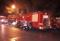 مهار آتش در یک کارگاه جوراب بافی