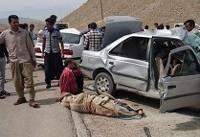 ۱۲ مصدوم و ۴ کشته در تصادفات جادهای امروز