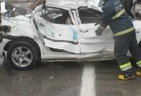 مصدومیت۷ تن در تصادف سرویس مدرسه با تریلی/آخرین وضعیت مصدومان تصادف مینیبوس و پراید در مشهد