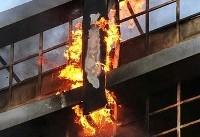 آتشسوزی در بیمارستان «محب یاس» مهار شد