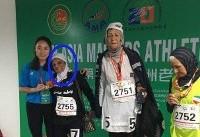 (تصویر) زن ۸۱ساله شیرازی برنده مسابقات دو شد