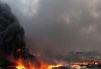 به آتش کشیدن چاههای نفت کرکوک توسط پیشمرگههای کرد