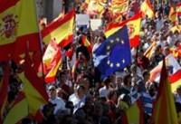 هزاران نفر از مردم بارسلون در اعتراض به اقدامات دولت اسپانیا تظاهرات کردند