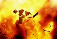 مصدومیت یک مرد بر اثر انفجار مخزن ماده شیمیایی