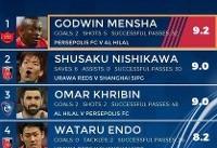 گادوین منشا بهترین بازیکن دور برگشت نیمه نهایی آسیا + عکس