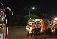 تصادف تریلی و اتوبوس در جاده قدیم کرج/ حال ۴ مصدوم وخیم گزارش شده است