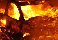 توضیحات پلیس در مورد آتش زدن خودرو در اهواز/ راننده برای فرار از قانون این کار را کرد
