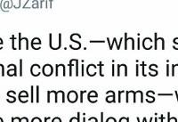ظریف: آمریکا نفعش را در فروش سلاح میبیند و ما خواهان گفتگو هستیم