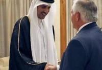 دیدار وزیر خارجه آمریکا با امیر قطر (عکس)