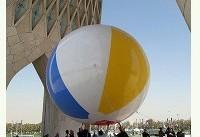 توپ سه رنگ، به برج آزادی رسید