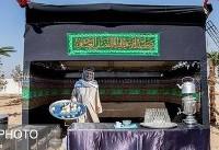 زائران مقوایی در مراسم اعزام کاروان بهداشت و درمان اربعین! (عکس)