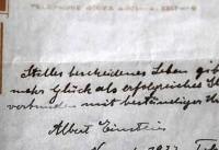 دستخط اینشتین حراج شد (+عکس)