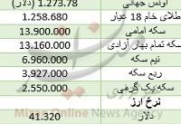 ادامه روند صعودی قیمت سکه/ دلار گران شد+ جدول قیمت