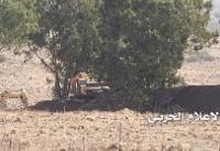 اقدام رژیم اشغالگر در تخریب خاکریزها در مقابل خاک لبنان + عکس