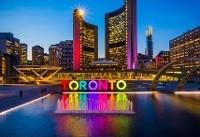 چراغهای نماد تورنتو به احترام کشتههای زلزله ایران و عراق خاموش شد