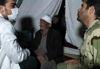 سرکشی شبانه نیروهای امدادی سپاه به زلزلهزدگان (عکس)