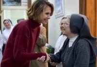 بانوی اول سوریه به دیدار زنان راهبه رفت (عکس)