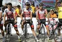 قادر میزبانی در تور دوچرخه سواری سینکاراک زمین خورد