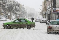 بارش برف در محورهای پنج استان کشور