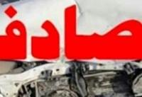 جزئیات برخورد اتوبوس ولوو با گاردریل در آزادراه تهران - قم