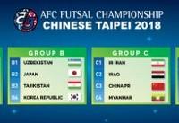 قرعه کشی فوتسال جام ملتهای آسیا ۲۰۱۸/ملی پوشان ایران حریفان خود را شناختند