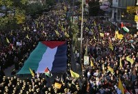 At rally, Hezbollah chief vows to return focus to Israel