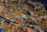تصاویر هوایی از منطقه زلزله زده هجدک کرمان