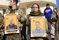 British volunteers killed in Syria given military send-off