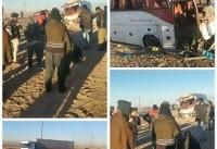 ۵۳ مصدوم بر اثر تصادف مینیبوس با اتوبوس در کرمان +عکس