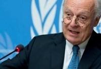 دیمیستورا خواهان اعمال فشار روسیه برسوریه برای دستیابی به توافق صلح شد