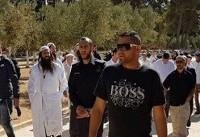 تعرض صدها شهرکنشین به مسجدالاقصی در عید یهودی