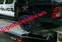 توقیف خودروی تویوتا هایلوکس با آرم پلیس +عکس