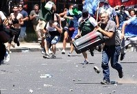 درگیری پلیس آرژانتین با بازنشستگان معترض