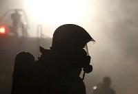 آتش سوزی در کارگاه هزار متری تولید میز