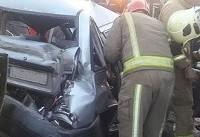 تصادف شدید پراید با نیسانوانت و کامیونت (عکس)