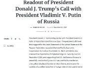 ولادیمیر پوتین از دونالد ترامپ بهخاطر کمک سیآیای قدردانی کرد