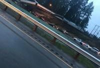 خروج قطار مسافربری از ریل در ایالت واشنگتن