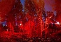 آتش سوزی مهیب در جنوب کالیفرنیا (عکس)